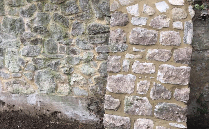 Stone buttress