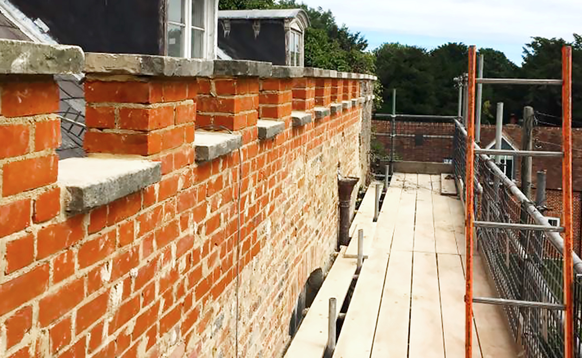 Brick Repair After Completion