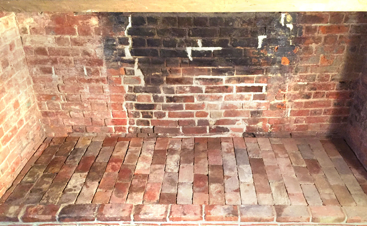 Re-lining an Inglenook fireplace