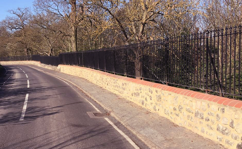 The repaired section of wall matched in perfectly with the remaining original sections