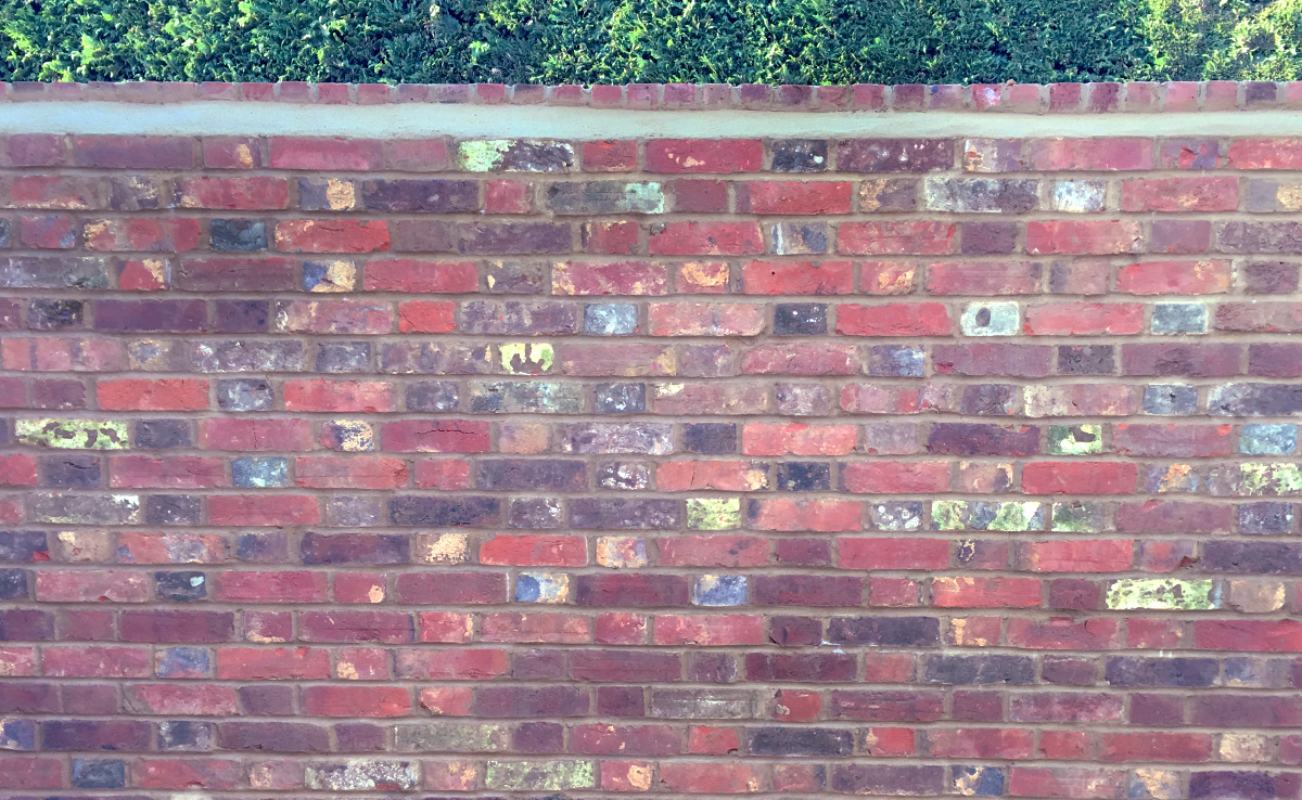 Flemish bond garden wall