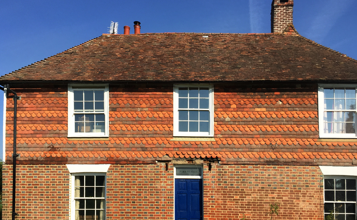 Historic house with flemish bond brickwork