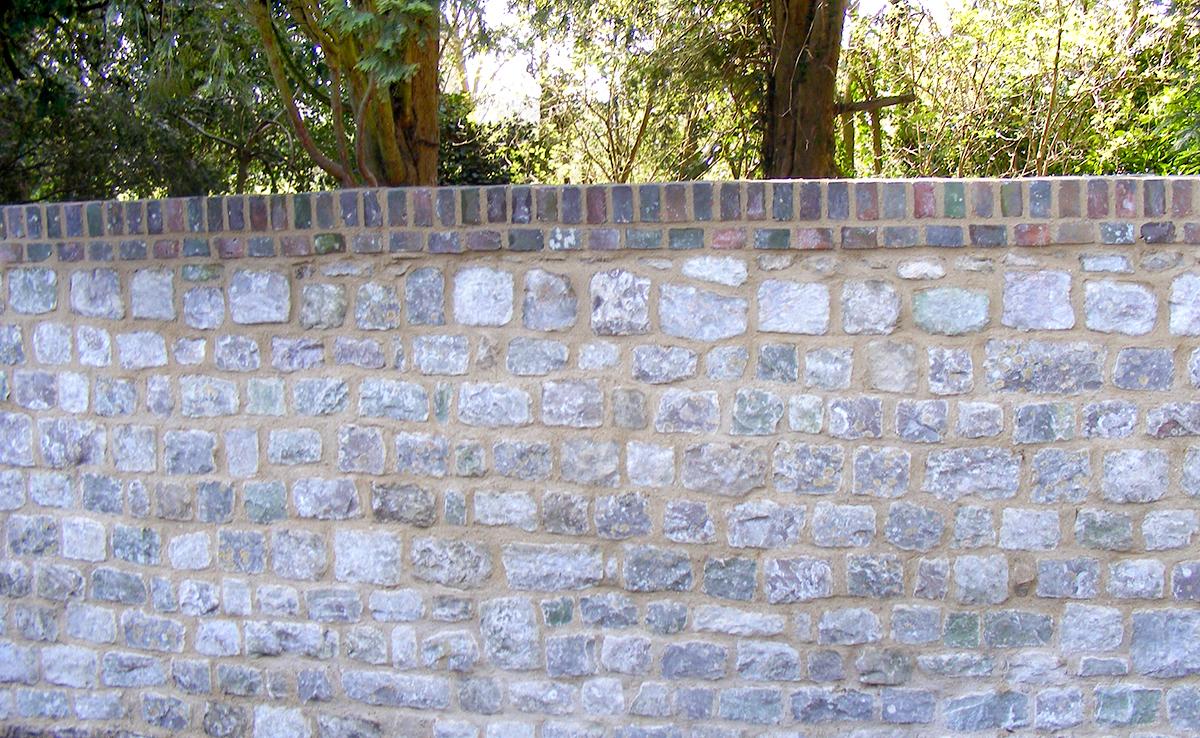 Dressed Kent Ragstone Wall